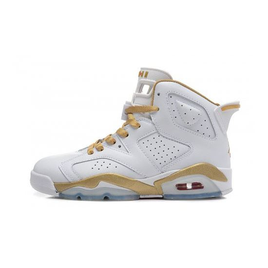 outlet store 31616 b7fd3 368497-135 Air Jordan 6 White metallic Gold(Women Men GS Girls)